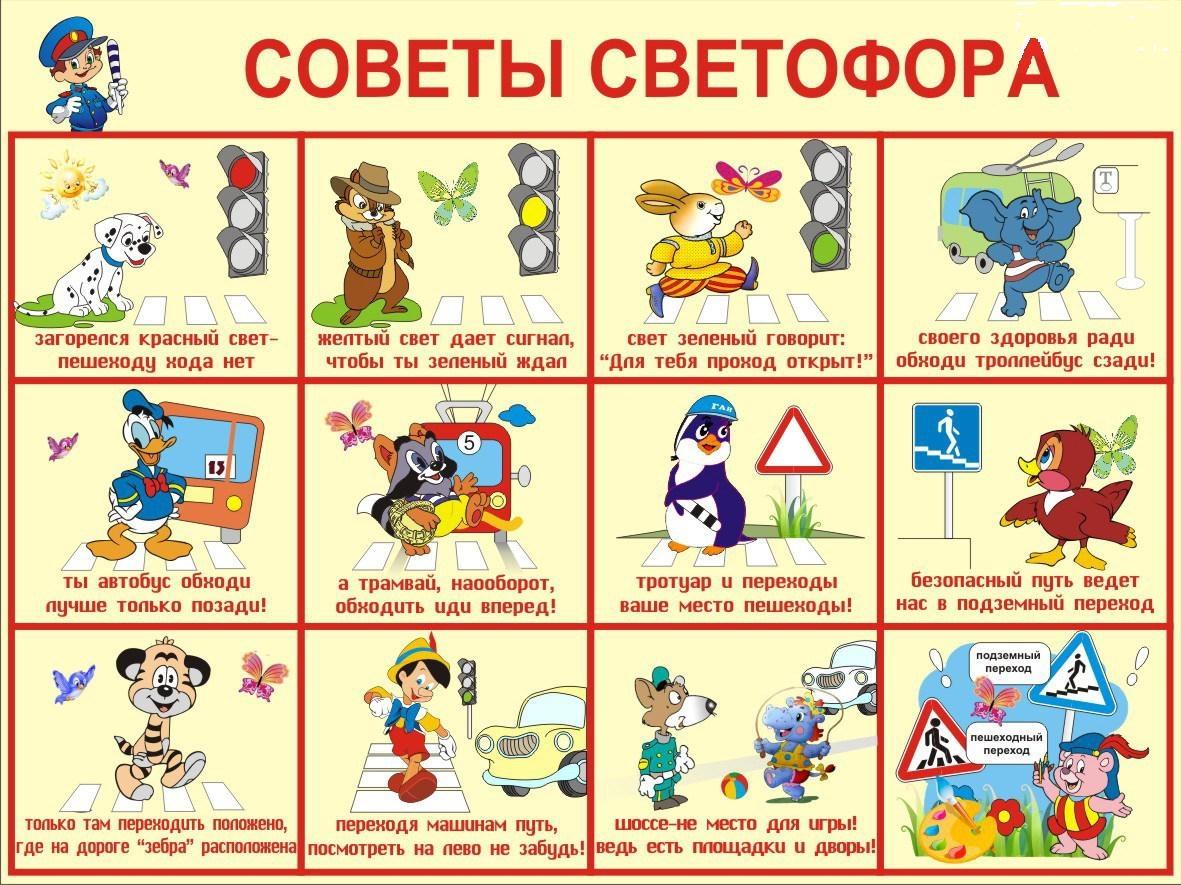 Правила дорожного движения в картинках для детей дошкольного возраста
